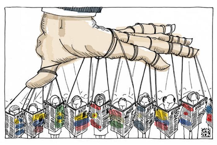Image result for censura de prensa cartoon