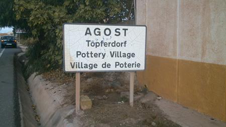 Señal de entrada a Agost
