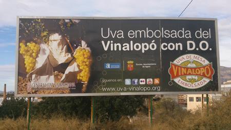 Cartel de uva del Vinalopó