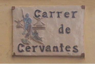 Placa de la calle Cervantes de Agost