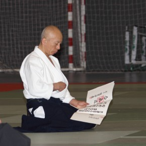 Hayato Osawa Shihan - Madrid - 2014 - Diploma 6ºDan Aikikai Roberto Sánchez