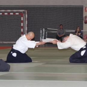 Hayato Osawa Shihan - Madrid - 2014 - Lectura diploma 6ºDan Aikikai Roberto Sánchez