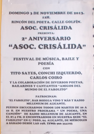 2º Aniversario Asociación Crisálida