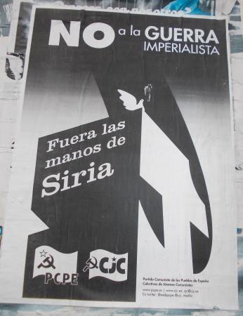 No a la guerra de Siria - PCPE CJC