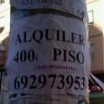 Momento de realización de la foto: 28 de Diciembre 2013 Lugar: Calle Padre Esplá (Calle del Arquitecto Vidal) Por casi toda la ciudad de Alicante hay anuncios sobre alquiler […]