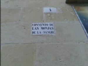 Foto realizada en el Convento de las Monjas de Sangre el 10/12/2013