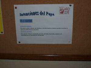 Cartel fotografiado en la Parroquia de Nuestra Señora de Gracia, el 29/12/2013