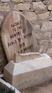Tumba cementerio ingles