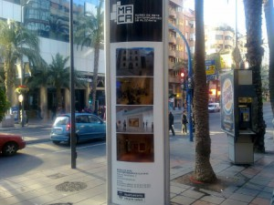 Anuncio del Museo de Arte contemporáneo de Alicante