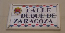 Calle Duque de Zaragoza