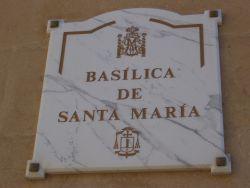 Placa Basílica de Santa María