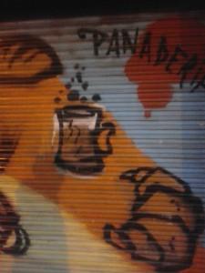 Graffiti en comercio