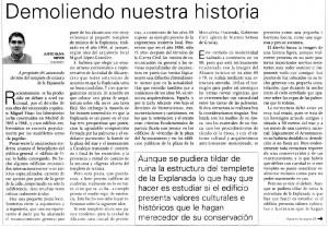 Demoliendo nuestra historia