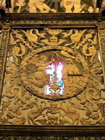 """""""La Anunciación"""", detalle de la reja del altar mayor"""