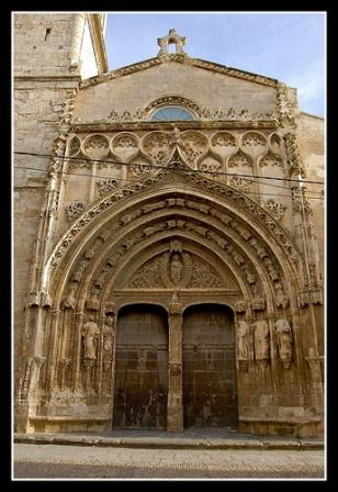 Puerta principal de la iglesia del Salvador, Requena