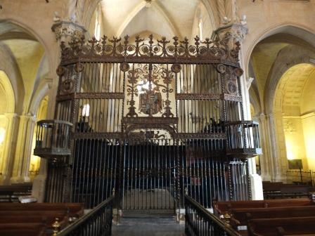 Reja del coro de la Catedral de Orihuela