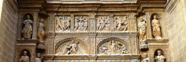 Portada de mediodía de la Iglesia de Santo Tomás de Haro (detalle)