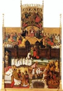 Retablo de almas con la misa de San Gregorio, de Pere Cabanes