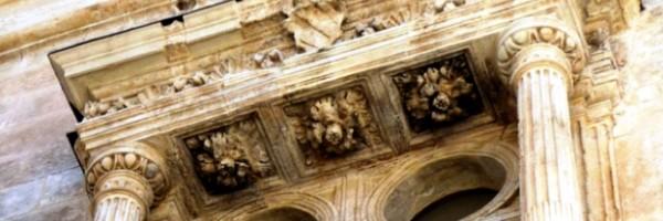Ventana de la torre de la iglesia de Santiago Apóstol (detalle), Villena