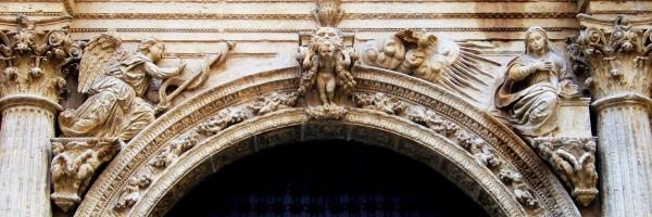 Portada de la Anunciación (detalle), Catedral de Orihuela