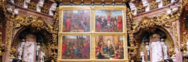 Retablo del altar mayor de la Catedral de Valencia (detalle)