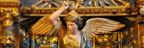 San Miguel (detalle), del retablo de San Miguel de Rozas (Soba)
