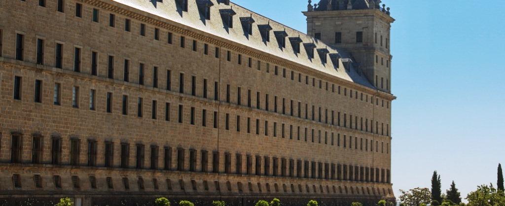 Fachada sur del monasterio de El Escorial (detalle)