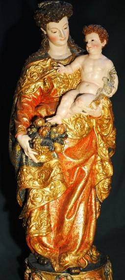 Virgen de la Caridad, Iglesia de San Juan Bautista, Fuentesaúco, Zamora.