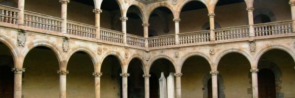 Detalle del patio de la Universidad del Santo Espíritu de Oñate