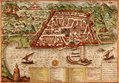 Mapa de la República corsaria de Argel (biografiasiniestras)
