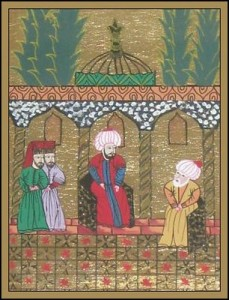 Solimán I recibe a Barbarroja en Estambul