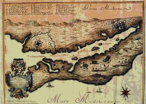 Mapa del puerto de Mahon, en Menorca (paradoxplaza)