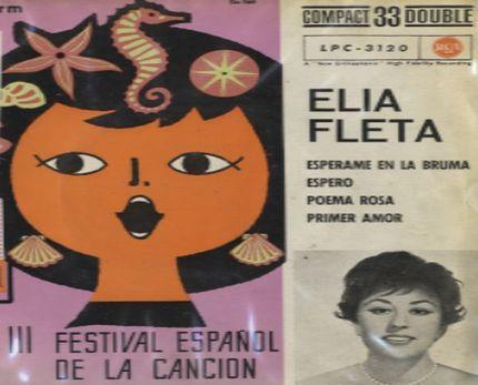 Elia Fleta. Festival de la Canción de Benidorm 1961