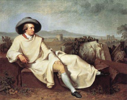 Portada del disco: Goethe Chorlieder por Coro de Cámara de la Universidad Johann Wolfganf Goethe de Frankfurt del Meno bajo la dirección de Christian Ridil.