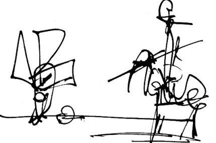 Ilustración Quijote. Antonio Saura