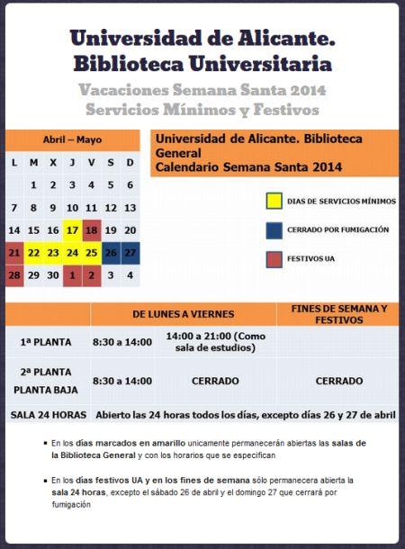 Servicios mínimos vacaciones 2014 Semana Santa