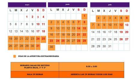 alendario de apertura extraordinaria mayo-junio 2014