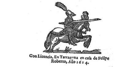 Ilustración de la primera edición del Quijote de Avellaneda