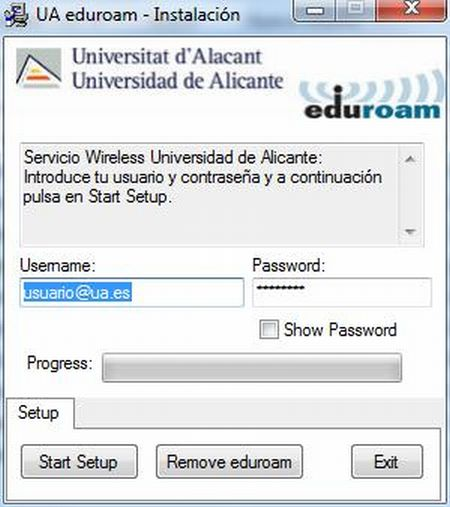 Red wifi eduroam universidad de alicante