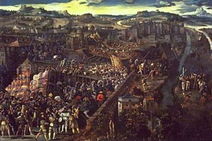 Carlos I de España y V de Alemania, emperador de dos mundos. La-Batalla-de-Pav%C3%ADa-pintura-de-un-artista-flamenco-desconocido-siglo-XVI.-300x200