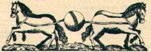 """Otto von Guericke (1602-1686) realizó el experimento (representado en este grabado con dos caballos), conocido como """"experimento de Magdeburgo""""."""