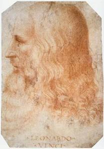 Leonardo da Vinci, Autorretrato hecho entre 1512 y 1515.