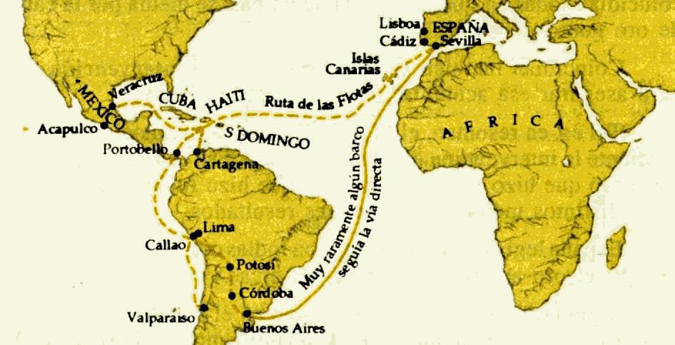 Mapa España Siglo Xv.El Comercio En Los Siglos Xv Y Xvi Otro Sitio Mas De Blogsua