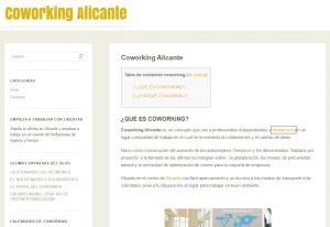 web de coworking