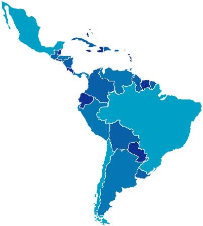 Mapa sensible Amrica Latina