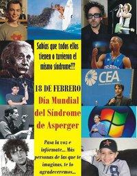 Cartel anunciador del día internacional del síndrome de Asperger