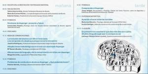 Programa de las II Jornadas sobre el síndrome de Asperger.