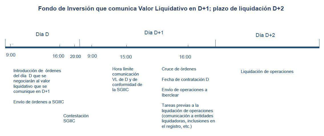 Fondo de inversión que comunica Valor Liquidativo