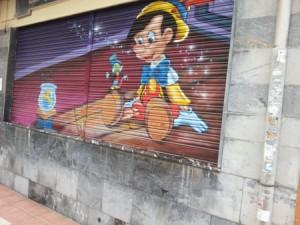 Grafiti iconográfico fotografiado el dia 11/12/13 en la calle   Ramón y Cajal.