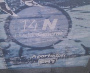 Lugar: Poeta Miguel Hernández Fecha: 12/01/14 Y para acabar otro cartelito más, de esos que están cada dos metros, en este caso promoviendo la huelga general del 14 de Noviembre. […]